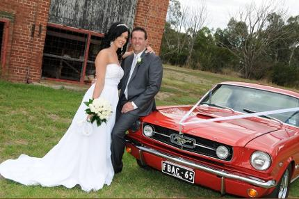 A Red Car for your Wedding Arrival!
